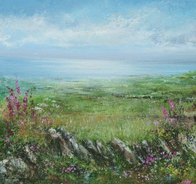 British Artist Amanda HOSKIN - Flowers of Sunshine, Atlantic Light, Zennor
