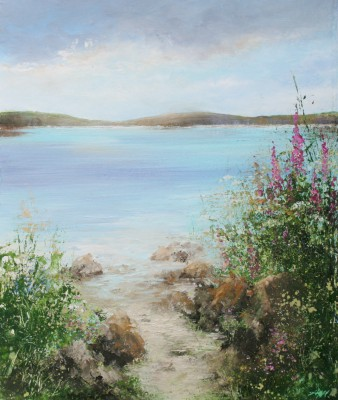 British Artist Amanda HOSKIN - Warm Evening Sun, Bryher, Scillies
