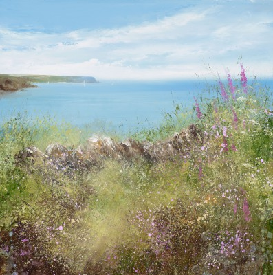 Amanda HOSKIN, contemporary artist - Silently the Flowers Bloom, Falmouth