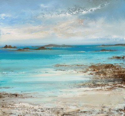 Amanda HOSKIN, contemporary artist&nbsp;-&nbsp;<span style='color:red;font-size: 200%'>&#8226;</span> The Air was filled with dreamy Magical Light, Tresco