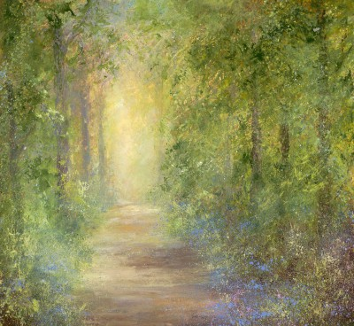 Amanda HOSKIN, contemporary artist - The Dawning of Brilliant Bluebells