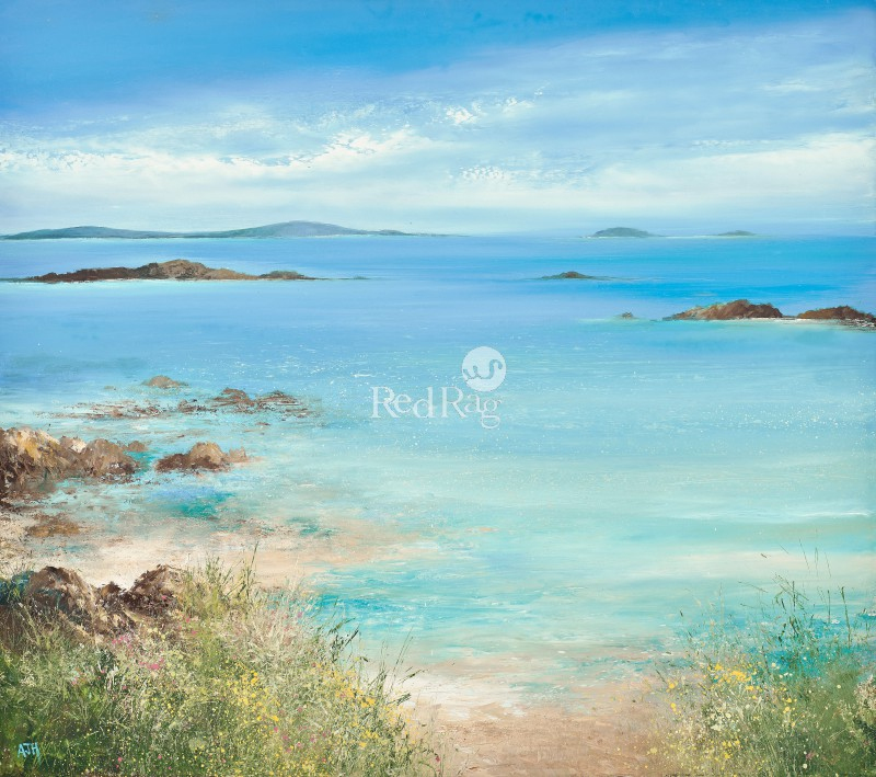 Amanda HOSKIN - A Spring Tide Washes over the Sands, Tresco