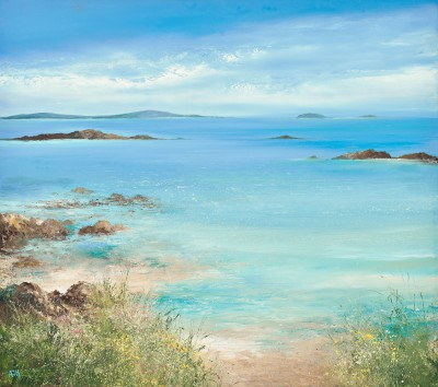 A Spring Tide Washes over the Sands, Tresco