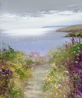 Amanda HOSKIN - Silver Light over Fowey River