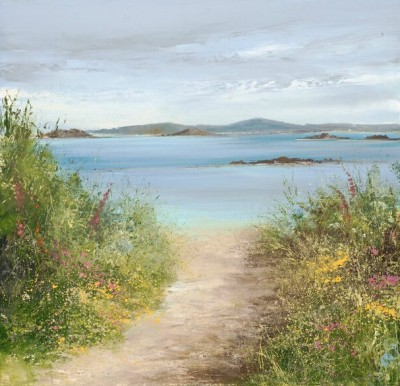 British Artist Amanda HOSKIN - Summer Path Tresco, Isles of Scilly