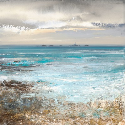 British Artist Amanda HOSKIN - After the Storm Land's End, Cornwall
