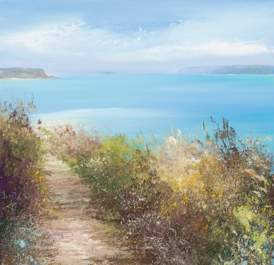 British Artist Amanda HOSKIN - Amazing Sky over Daymer Bay, Padstow
