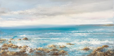 British Artist Amanda HOSKIN - Tide Rushes in Sennen