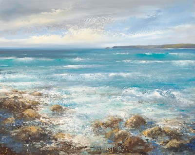 British Artist Amanda HOSKIN - Summer Seas at Sennen