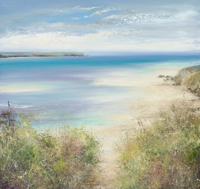 British Artist Amanda HOSKIN - Path to the Beach, Padstow