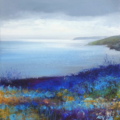 British Artist Amanda HOSKIN - Abstract Blues, The Dodman