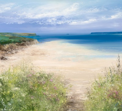 British Artist Amanda HOSKIN - Summer Path Down to the Beach, Padstow