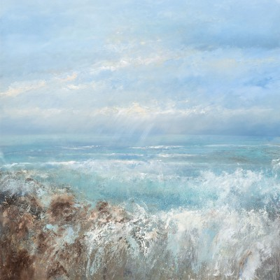 'Gwithian Seas' painting