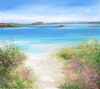 Amanda HOSKIN - Path to the Beach, Old Grimsby, Tresco