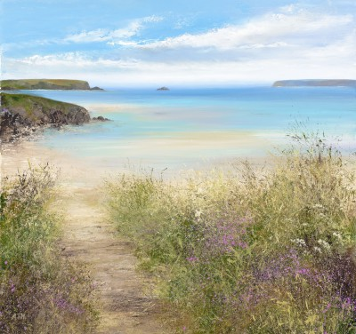 British Artist Amanda HOSKIN - Summer Path, Daymer Bay