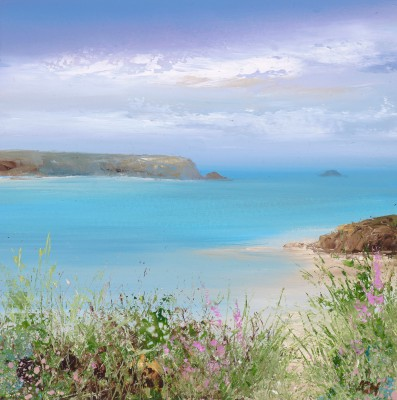 British Artist Amanda HOSKIN - Summer Flowers at Daymer