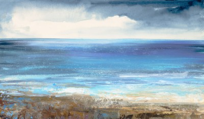 British Artist Amanda HOSKIN - Clouds Gathering on the Horizon