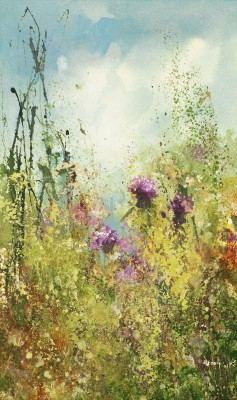 British Artist Amanda HOSKIN - September Flowers, Fowey