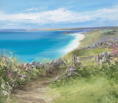 British Artist Amanda HOSKIN - Lovely Day On St Martins, Isles of Scilly