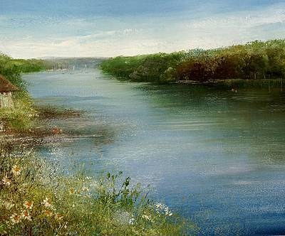 British Artist Amanda HOSKIN - Summer Days, Mylor Bridge