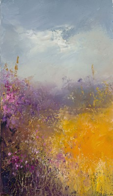 British Artist Amanda HOSKIN - Summer Fields, Lankelly Lane, Cornwall
