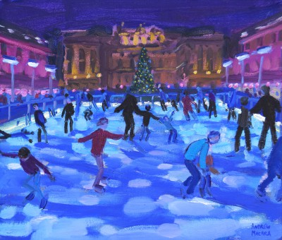 British Artist Andrew MACARA  - Christmas, Somerset House, Evening