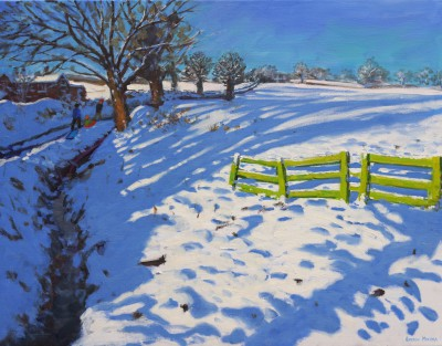 Kedleston, Derbyshire in Winter painting by artist Andrew MACARA