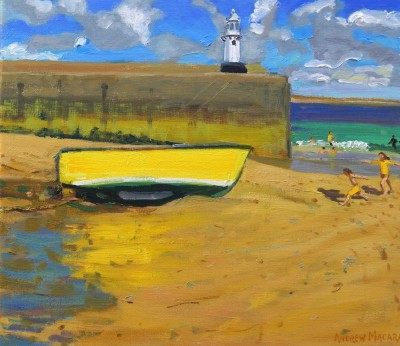 British Artist Andrew MACARA  - Yellow Boat, St Ives
