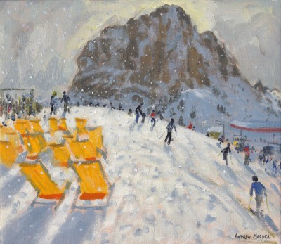 Andrew MACARA , contemporary artist&nbsp;-&nbsp;<span style='color:red;font-size: 200%'>&#8226;</span> Deckchairs, Val Gardena, Italy
