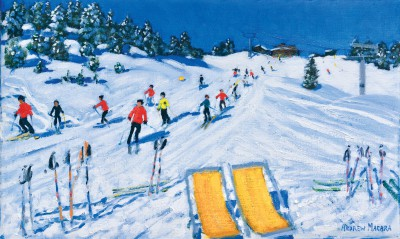 Andrew MACARA , contemporary artist - Two Deckchairs, Val Gardena