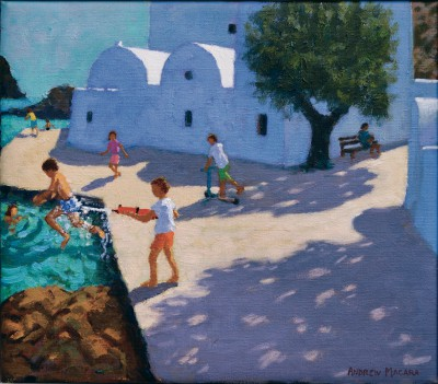 British Artist Andrew MACARA  - The Water Pistol, Sifnos