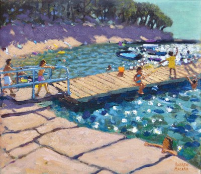 British Artist Andrew MACARA  - The Jetty, near Rovini