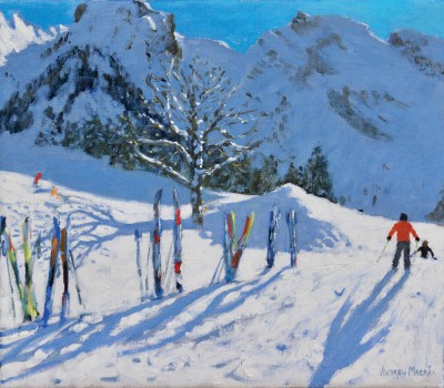 Andrew MACARA , contemporary artist&nbsp;-&nbsp;<span style='color:red;font-size: 200%'>&#8226;</span> Skis, La Clusaz