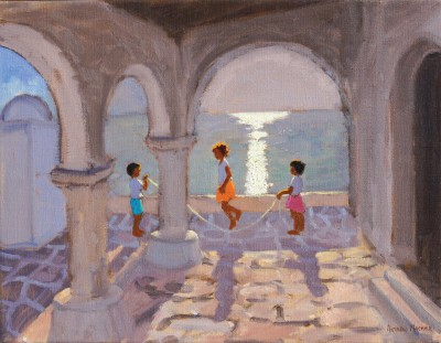 Andrew MACARA , contemporary artist&nbsp;-&nbsp;<span style='color:red;font-size: 200%'>&#8226;</span> Skipping, Mykonos