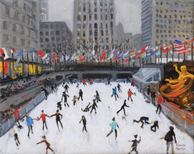 Andrew MACARA , contemporary artist&nbsp;-&nbsp;<span style='color:red;font-size: 200%'>&#8226;</span> Rockefeller Ice Rink, New York