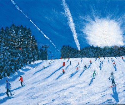British Artist Andrew MACARA  - Jet Trails, Les Gets
