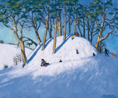 British Artist Andrew MACARA  - Welsh Hillside in Winter