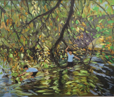 Andrew MACARA , contemporary artist - River Wye, Autumn, Derbyshire