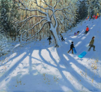 British Artist Andrew MACARA  - Winter, Via Gellia, Derbyshire