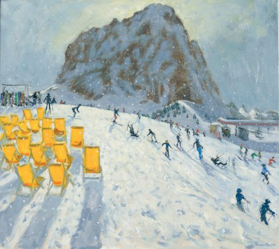 British Artist Andrew MACARA  - Mountain Top, Val Gardena
