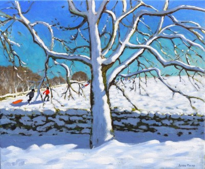 British Artist Andrew MACARA  - Tree in Winter