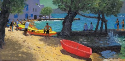 Andrew MACARA , contemporary artist - Red Boat, Milas
