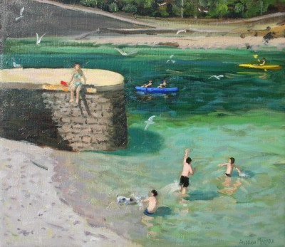 British Artist Andrew MACARA  - The Harbour, Looe
