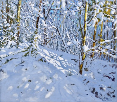 Deep Snow, Allestree Woods, Derbyshire painting by artist Andrew MACARA