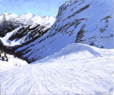 British Artist Andrew MACARA  - Into the Valley, Courchevel, France