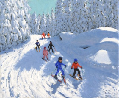 Andrew MACARA  - Skiing Down the Trail, Courchevel, France