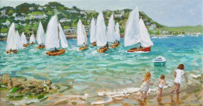 Andrew MACARA  - Chasing the Boats, Salcombe, Devon