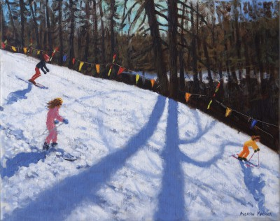 British Artist Andrew MACARA  - Skiing the Three Valleys, France