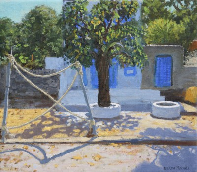 British Artist Andrew MACARA  - Blue Doors, Milos, Greek Islands
