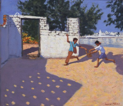 British Artist Andrew MACARA  - Old Doorway, Pushkar Camel fair, Rajasthan, India
